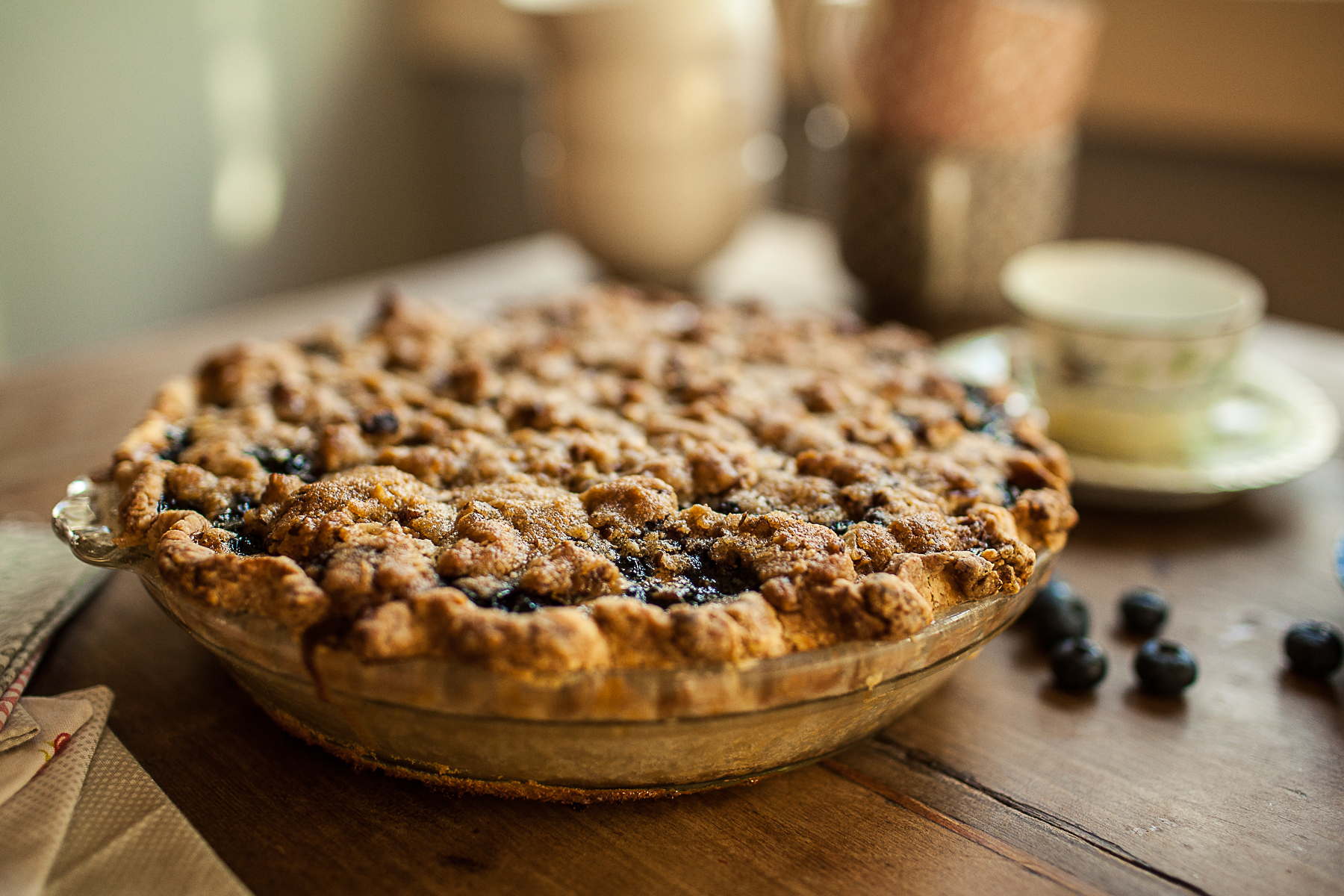 Granola Girl bakes || Blueberry Custard Pie-11