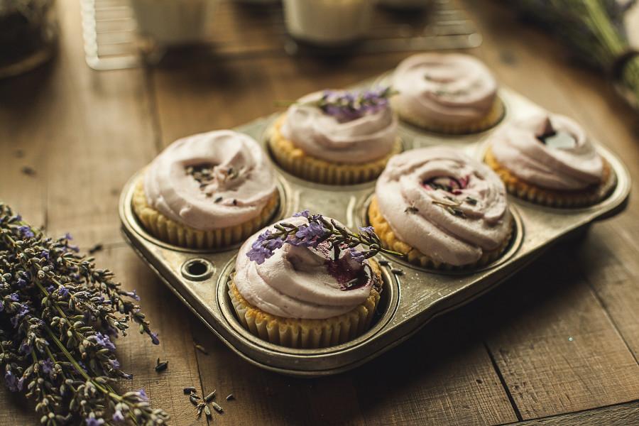Granola Girl Bakes Lavender Lemon cupcakes 8