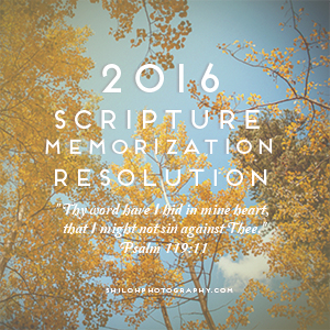 2016 Scripture Memorization Resolution